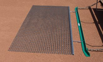 Steel mat drag shown with leveling bar