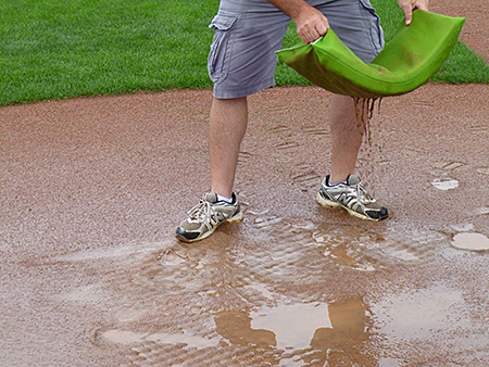 athletic field puddle sponges