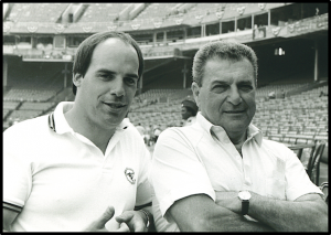 MLB Groundskeeper Pat Santarone and Paul Zwaska
