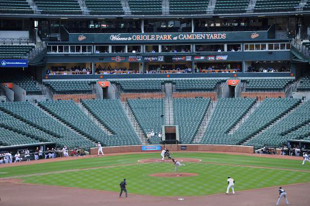 orioles white sox empty ballpark