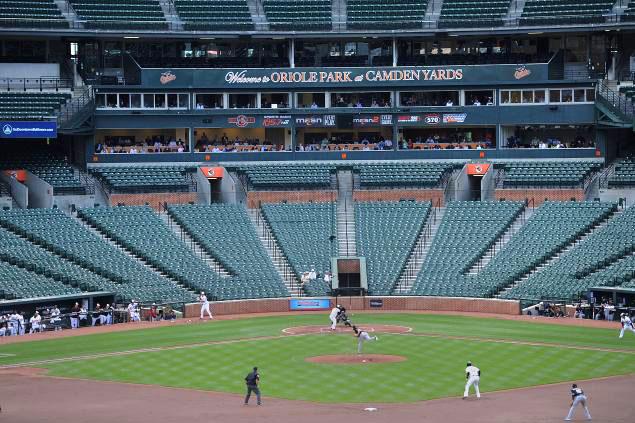 orioles white sox empty ballpark