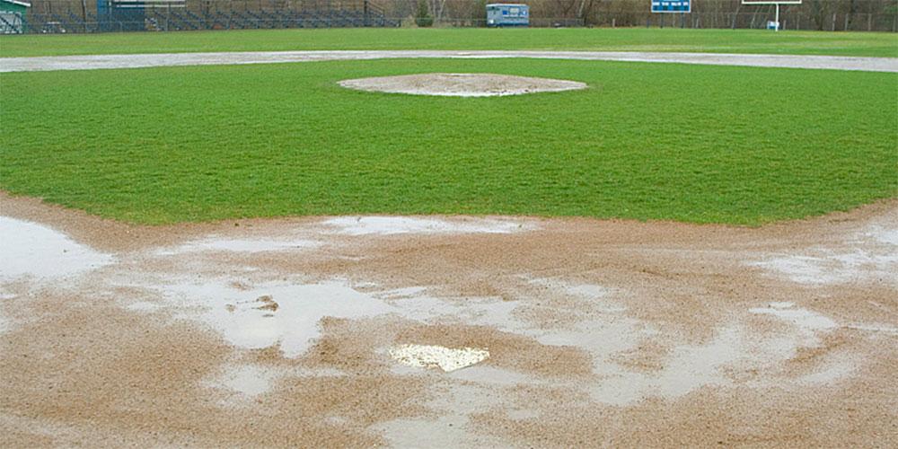 tips for wet baseball fields