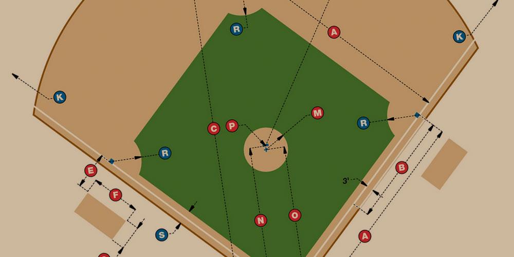 90 baseball field dimensions
