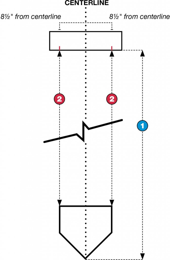 Pitching Rubber Centerline Diagram