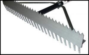 double play aluminum rake