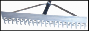 aluminum screening rake
