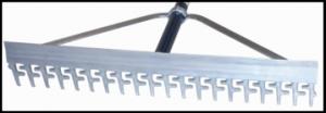aluminum screening rake