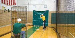 indoor baseball practice