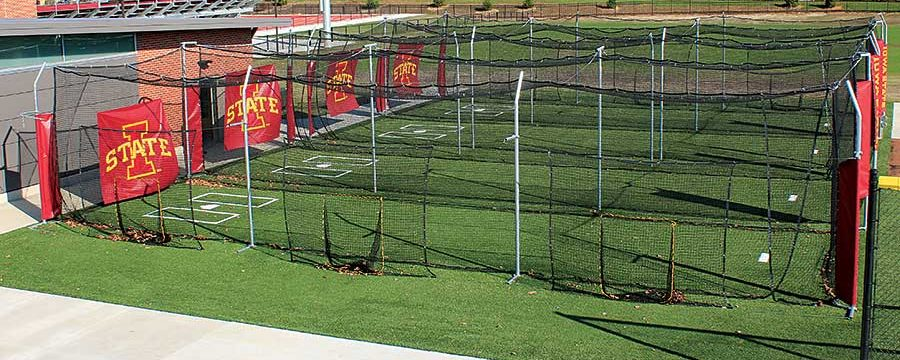 Photo: Batting cage flooring