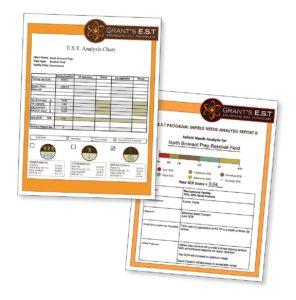 Soil test result samples